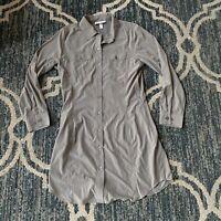 Coolibar Upf 50 Button Down Dress Sz 14 Great Condition Long Sleeve