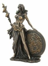 All Mother Goddess Frigga Holding Spear and Shield Statue Norse Asgard Wife Odin