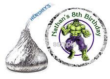 216 INCREDIBLE HULK BIRTHDAY PARTY FAVORS HERSHEY KISS KISSES LABELS
