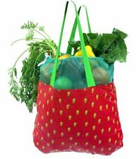 Shopping Tote Bag ~ Earthwise Reusable ~ Strawberry ~ Made in Usa ~New~Free Ship