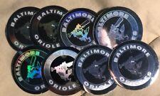 (8) 1989 Upper Deck Hologram Sticker Baltimore Orioles Baseball Logo Lot