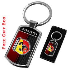 ABARTH KEYRING KEY CHAIN RING FOB CHROME METAL NEW GIFT