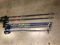 Scott Ski Poles 3 PAIR 46 inch, 50 inch and the other was cut estimated 44 inch