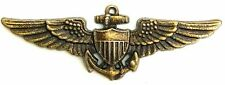 US Navy Aviation Wing Badge Naval Aviator Pilot Pin Insignia Antique USN-AVBANTQ