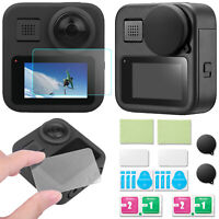 HD Tempered Glass Film Lens Cover Screen Protector Set for GoPro Max 360 Camera