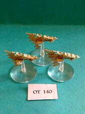 Battlefleet gothic - Eldar Flotte - Aconitum Fregatten x3 - Metall OT140