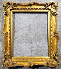 """4"""" Gold VINTAGE ANTIQUE FINE HAND-CARVED PICTURE FRAME  Frames4art 1178G 16x20"""