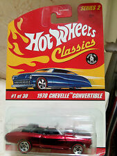 Hot Wheels 1970 CHEVELLE CONVERTIBLE- CLASSIC Series 2  # 1 of 30  Red Redline