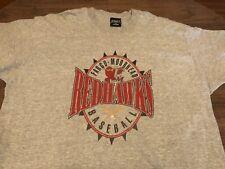 Fargo Moorhead Redhawks Baseball MiLB 2XL XXL Gray T Shirt