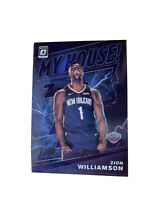 2019-20 Panini Optic Zion Williamson My House Rookie RC PURPLE PRIZM #15