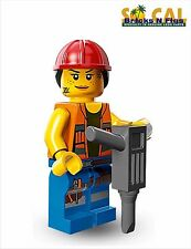 THE LEGO MOVIE MINIFIGURES 71004 Gail the Construction Worker NEW