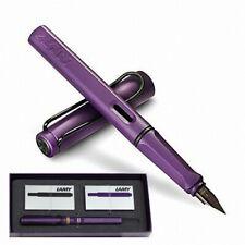 LAMY 2016 Safari Dark Lilac Fountain Pen w/Ink Cartridges (Black Nib)