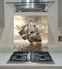 Splashback Toughened Glass Unique Kitchen Sea  Pirate Ship Any Sizes