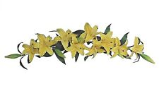 """9-Yellow Lily 35"""" Swag Wall Door Arch Decors Natural Looking Artificial Flower"""