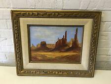 Likely Vintage Margaret Brown Signed Painting of Southwestern / Desert Landscape