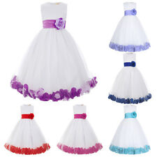 Flower Girl TuTu Wedding Princesses Dress Ball Prom Gowns Birthday Party Dress