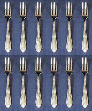 """SET OF TWELVE - Oneida Stainless NEW YORK 8-1/4"""" Dinner Forks"""