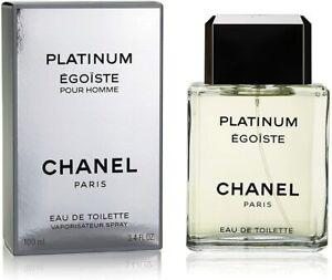 CHANEL PLATINUM EGOISTE Men Cologne 3.4oz / 100ml EDT Spray NEW IN BOX SEALED
