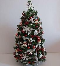SALE Doll House Shoppe Silver Red Ultimate Christmas Tree dhs49114 Miniature