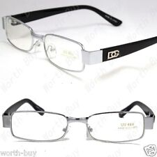 DG Clear Lens Frame Glasses Rectangular Fashion Nerd Mens Womens Eyewear Retro