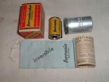 Italy Vintage Film FERRANIA Exp 1959 20 Exposure Color w/ Can Box Cloth sack