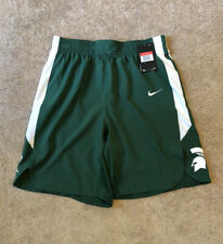 Brand New Nike Mens Large Michigan State Spartans Authentic Basketball Shorts