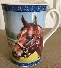 MILL REEF RACEHORSE CHINA MUG by  DANBURY MINT ARTIST GRAHAM ISOM NEW