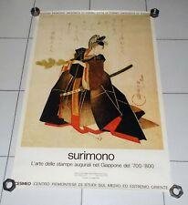 Manifesto SURIMONO L'arte delle stampe nel Giappone 68x100 Poster affiche 1983