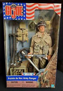 "GI Joe Pointe du Hoc Army Ranger D-Day Action Figure Complete Hasbro 2001 12"""