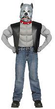 Fun World Pit Bull Biker Dog Kids Costume Medium 8-10