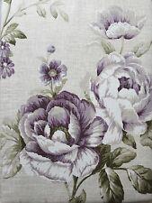"""90"""" x 54"""" 100% Cotton Lined Purple Flowers 6"""" Pencil Pleat Curtains Floral Plum"""