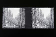 Cathedral Milan Italy Italy Plate glass stereo NEGATIVE, 1911