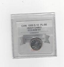 **1956**,Coin Mart Graded Canadian,  10  Cent, **PL-66 HC** ICCS # UM 551