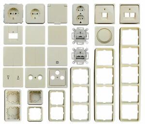 ELSO Fashion Perlweiß Schaltermaterial Steckdosen, Schalter, Rahmen Auswahl