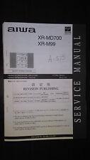 Aiwa xr-md700 m99 Service Manual Original Reparatur Buch Stereo MD CD Player