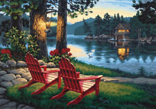 paint by numbers kits for adult kids diy oil painting Lakeside