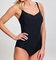 Panache BLACK Anya One Piece Swimsuit, US 38J