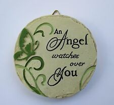 New listing b An Angel watches over you Mini Plaque fairy garden stepping stone Ganz