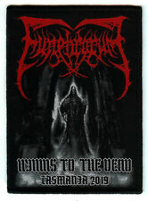 Funebrarum Hymns to the dead woven patch. Death Metal. Incantation. Ignivomous.