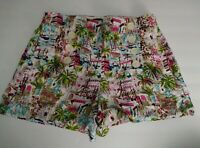 J.Crew Womens Shorts Side Zip Faux Button Front Tropical Size 6