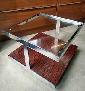 Vintage Chrome Coffee Table -  Possibly Richard Young  For Merrow Associates