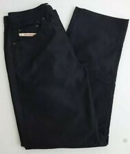 DIESEL KEETAR RR55 Modern Basic Mens Black Sheen Button Fly Jeans Size 30 X 27