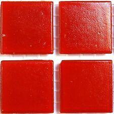 Mosaïque Loisirs Créatifs - Pâte de Verre - 20mm - A96 Rouge - 75pcs