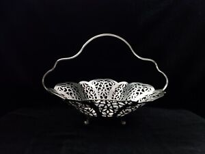Lovelace International Silver Basket with handle  - Mother's day gift
