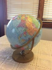 "Vintage Replogle Pioneer 12"" Diameter Globe ""True To Life"" on Metal Stand"