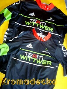 Lotto 2 maglie Team Wittwer Adidas ciclismo Italia-Svizzera pari al nuovo