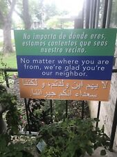 """No Matter Where You Are From, We're Glad You're Our Neighbor"" Yard Sign w/stake"