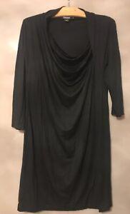 DKNY Black Jersey Tunic Dress - Size Medium