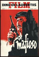 brochure pubblicitaria originale cinema MAFIOSO 1962 alberto sordi-A.LATTUADA