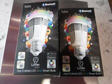 2 Tabu Lumen TL 800 Original Color Smart Bulbs LED Bluetooth 16 Million Colors